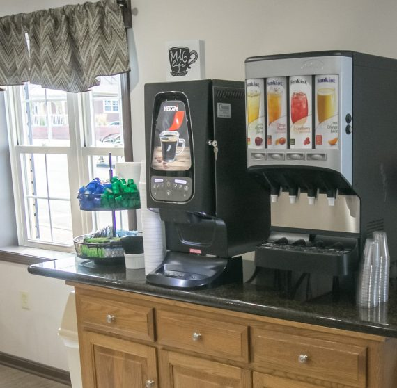Coffee and Juice Station in our Breakfast Room