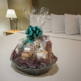 Amish Treat Basket on a Bed