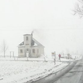 Winter with snow in Berlin, Ohio